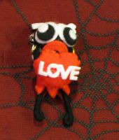 Tribal Bone Google Eye Love Voodoo Keychain