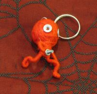 Funny Man Screw Red Voodoo Keychain