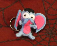 Heffalump Blue and Pink Elephant Voodoo Keychain