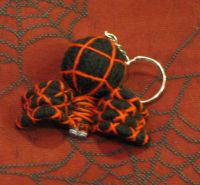 Black and Red Spider Voodoo Keychain