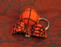 Red and Black Spider Voodoo Keychain