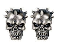 Evil Skull Spike Stud Earrings