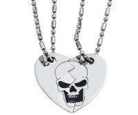 Broken Heart Dog Tag Double Necklace