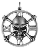 Skull Medallion Pendant Necklace