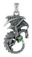 Green Ladon Dragon Pendant Necklace