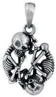 Skull And Bones Pendant Necklace