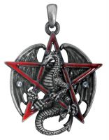 Pentagram Dragon Pendant Necklace