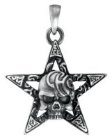 Star Skull Dragon Pendant Necklace