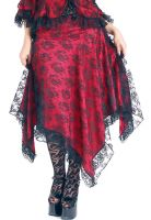 Eternal Love Scarlet Gothic Kerchief Skirt Taffeta Lace