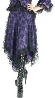 Eternal Love Violet Gothic Kerchief Skirt Taffeta Lace