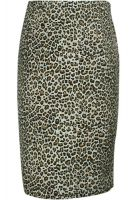 Plus Size Leopard Retro Urban Pencil Skirt