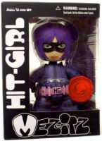 Kick-Ass Mez-itz Hit Girl Exclusive Vinyl Figure Purple *EXTREMELY DENTED BOX*