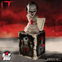 Mezco IT 2017 Burst a Box 14 inch Pennywise IT Clown Jack in the Box *SLIGHTLY DENTED BOX*