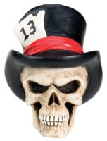 Top Hat Skull Lucky 13