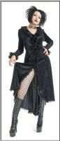 Eternal Love Black Gothic Velvet Romantic Dress