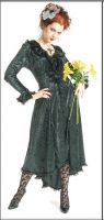 Eternal Love Hunter Gothic Velvet Romantic Dress