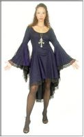 Eternal Love Violet Gothic Gwendolyn Dress Cobweb