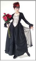 Eternal Love Pewter Gothic Crucifix+ Roses Belle Dame