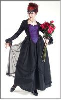 Eternal Love Violet Gothic Crucifix+ Roses Belle Dame