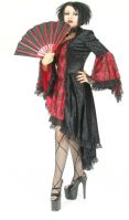 Eternal Love Plus Size Scarlet Red Gothic Gwendolyn Dress Taffeta Lace