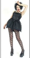 Eternal Love Gothic Black Crucifix & Roses Mini Dress Tutu