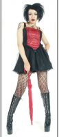 Eternal Love Gothic Scarlet Red Crucifix & Roses Mini Dress Tutu