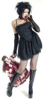 Eternal Love Gothic Black Taffeta Lace Mini Dress Tutu