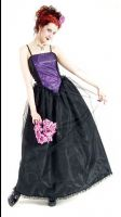 Eternal Love Violet Crucifix and Roses Party Dress
