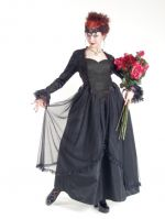 Eternal Love Plus Size Black Gothic Sacred Heart + Roses Belle Dame