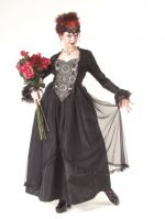 Eternal Love Plus Size Pewter Gothic Sacred Heart + Roses Belle Dame