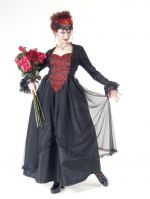 Eternal Love Plus Size Scarlet Gothic Sacred Heart + Roses Belle Dame