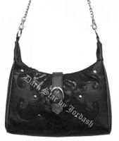 Dark Star Black Gothic Cobweb Net/PVC Purse
