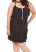 Torrid Black Lace Tiered Dress