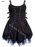 Dark Star Black Buckle Corset Dress