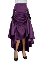 Plus Size Purple Gothic Three Way Lace Up Skirt