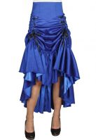 Plus Size Blue Gothic Three Way Lace Up Skirt