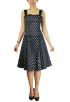 Plus Size Black and Polka Dot Pin Up Summer Dress