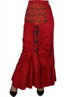 Plus Size Red Victorian Punk Circle Skirt