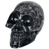 Small Clear Crystal Skull with Marble Pattern