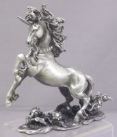 Pewter Unicorn Jewels Stomping