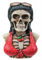 Hot Rod Sally Skull Figurine