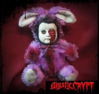 Purple Vampire Rabbit Bunny Creepy Horror Doll by Bastet2329