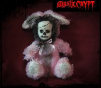 Pink Day of the Dead Rabbit Bunny Creepy Horror Doll by Bastet2329