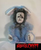 Sad Blue Rabbit Bunny Creepy Horror Doll by Bastet2329