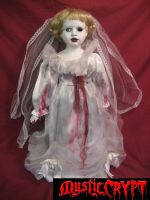 Large Voodoo Nails Bride Creepy Horror Doll by Bastet2329