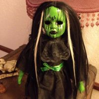 Bride Of Frankenstein Halloween Mourning Death Metal 666 Creepy Horror Doll by Bastet2329