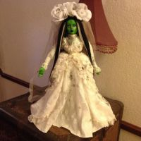 Large Bride Of Frankenstein w Wedding Gown Creepy Horror Doll by Bastet2329
