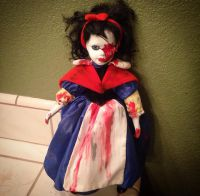 Snow White Vampire Creepy Horror Doll by Bastet2329
