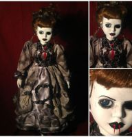 Victorian Vampire Mourning Lady Creepy Horror Doll by Bastet2329