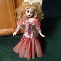 Fancy Fishtail Pink Dress Lady Vampire Creepy Horror Doll by Bastet2329